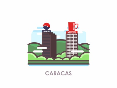 Venezuelan Cities: Caracas building nescafe pepsico pepsi inspiration illustration digital illustration design illustration art illustration icon illustration icon logo icon city icon city logo city illustration cityscape city venezuelan venezuela caracas