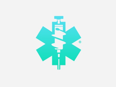 SM medical logo gradient logo color logo icon ambulance medical logo medical syringe logo syringe inspiration negative space logo negative space logo concept logo inspiration logo