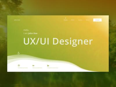 Designing Portfolio's Page landing page portfolio product design web design design ux ui