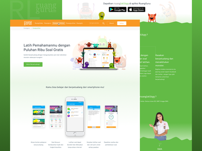 Ruanglatihan Redesign tutor app monster sketch app design redesign learning app ux ui