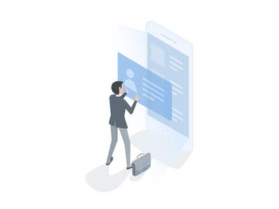 Isometric - Joining App sketch app vector isometric product design ui ux