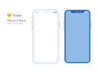 Free Minimal iPhone X Mockup