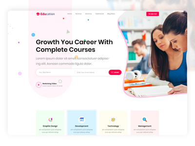 Education clean branding minimal ux ui university tutorial training online education online courses elearning education college coaching academy