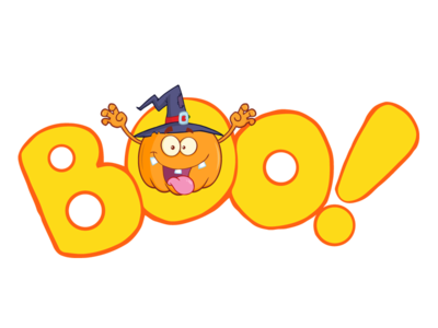Boo Text With Scaring Halloween Pumpkin