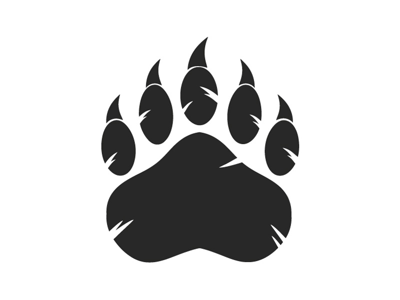 Black Bear Paw With Claws by Hit Toon on Dribbble