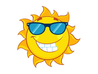 Smiling Cute Sun With Sunglasses