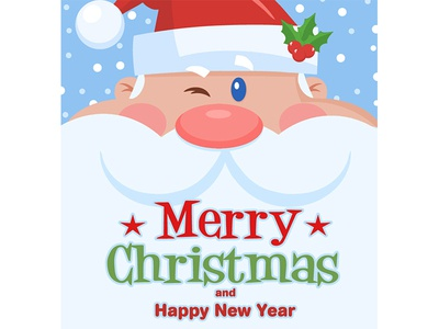 Winking Santa Claus