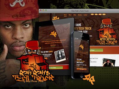 Waka Flocka What? - Responsive Website responsive website icon design identity