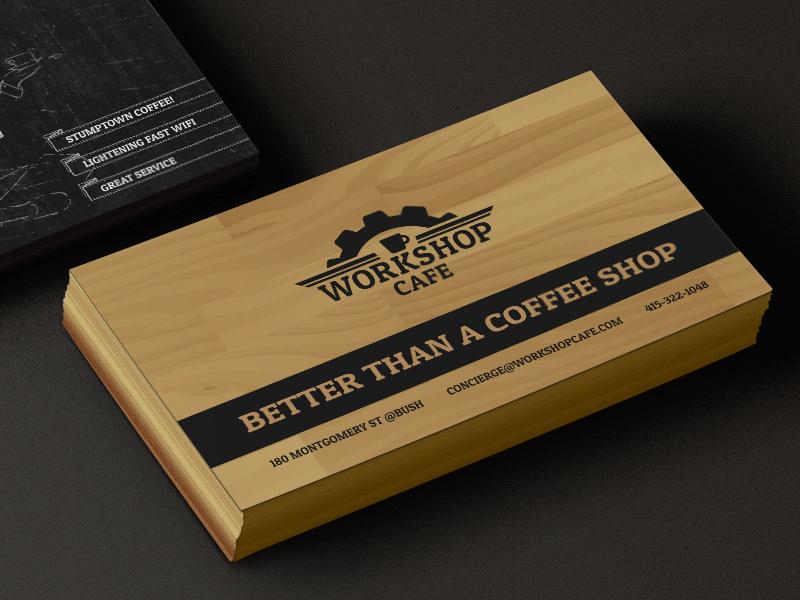 Workshop cafe business card by laurel j dribbble designlaurels bizcard workshop colourmoves