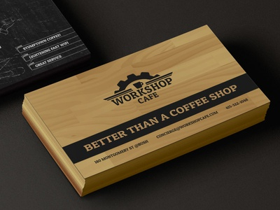 Workshop cafe business card by laurel j dribbble workshop cafe business card colourmoves