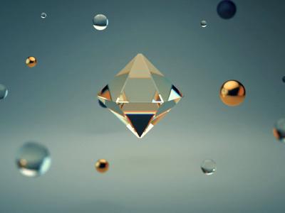 Floating Diamond redshift 3danimation motion design 3dart floating diamond maxon c4d 3d design aftereffects motion animation