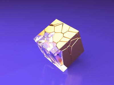 Gravity/Time/Dimension dimension time gravity c4dart metal gold glass cube design aftereffects 3d animation c4d 3d art 3d illustration motion animation