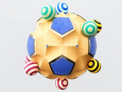 Balanced Chaos photoshop colorful rolling geometry loop satisfying abstract 3danimation chaos balls sphere wood motiondesign render 3d clean c4d aftereffects motion animation