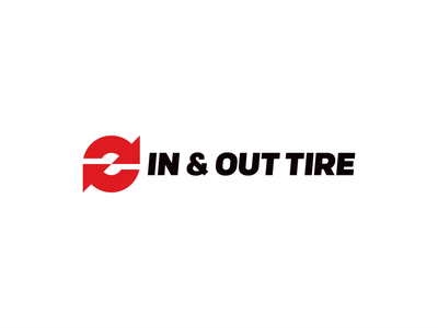 In & Out Tire - Logo Animation 2d 2danimation arrow red motiongraphics motion design reveal logo animated branding loop logo gif ae render aftereffects design motion animation