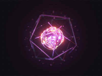 Visual AI visual clean shine glass glow ai loop 3d animation c4d 3d ae render aftereffects motion design animation