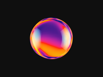 Colourful AI exploration animation design motion render 3d loop reveal ai artificial intelligence glass sphere colourful colours vivid liquid abstract creative ui design ae