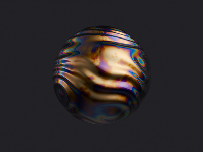 3D wavy oil slick sphere sphere wave web organic abstract noise hero displace ripple c4d ui 3d ae render aftereffects motion animation design