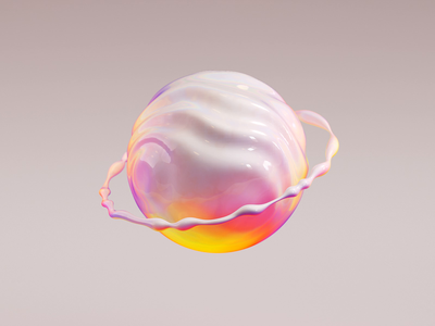 Abstract Organic Exploration fluid c4d vivid motion ring white colourful sphere abstract organic app web ui illustration 3d ae render aftereffects motion animation design
