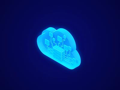 Oracle Marketplace - 3D Illustration isometric visual cloud vividmotion web glow design illustration ai marketplace oracle c4d render aftereffects motion motion design 3d animation ui