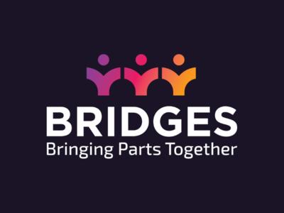 Bridges logo colorful bold branding company business modern gradient pr design bridges logo