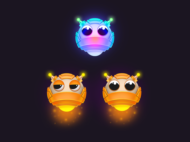 Game combo boosters - Bluster bomb ios match-3 character icon element design game art game booster