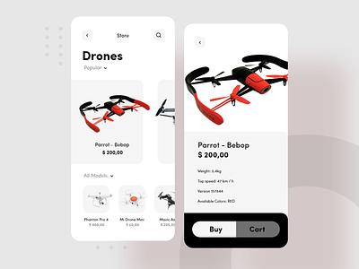 Drone App drones mobile app drone logo vector branding material design design motion redesign android ux ui