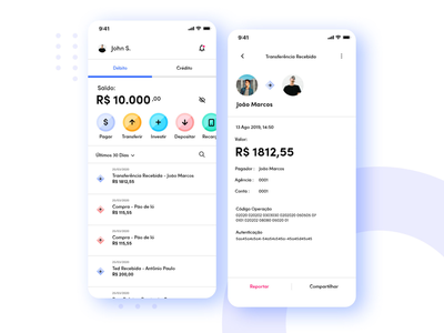 Bank App app web móbile designer ui design