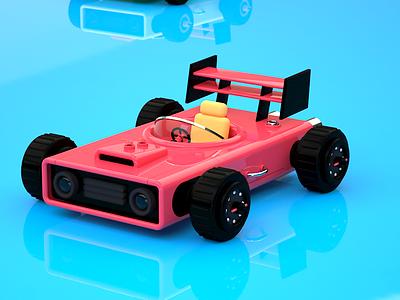 Little car, render in Octane render 3d art cinema 4d c4d adobe illustration animation maxon3d maxon design 3d