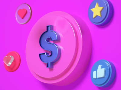 Money blender3d 3d artist art 3d art pixel animation blender cinema 4d c4d octane otoy maxon3d cg 3d logo
