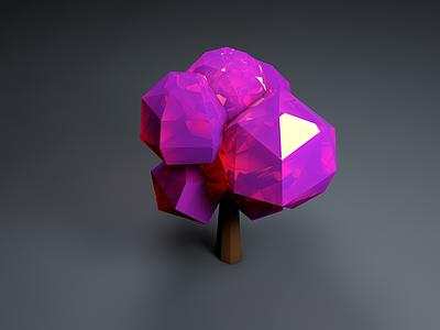 C4D Tree Render Test color design tree global illumination render c4d