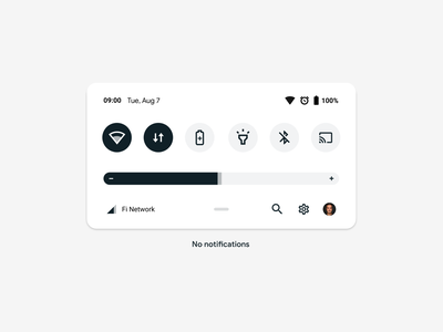 Android Quick Settings Redesign (Concept) quick settings development redesign design illustration ui ux android