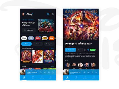 Disney Plus Mobile Redesign interface app ux ui redesign mobile disney