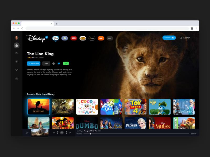 Disney Plus Desktop disney redesign ux ui android animation