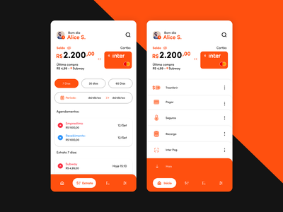 Banco Inter Redesign bank ux ui design android redesign banco inter inter banco