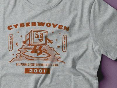 Not Your Dad's 70s High School Gym Shirt internet computer screenprint t-shirt design t-shirt overprint texture retro illustration