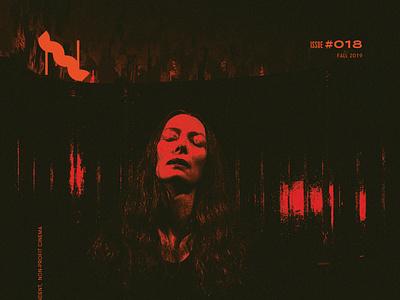 Nick Mag Halloween Cover texture film red duotone magazine cover print design horror suspiria halloween tilda swinton