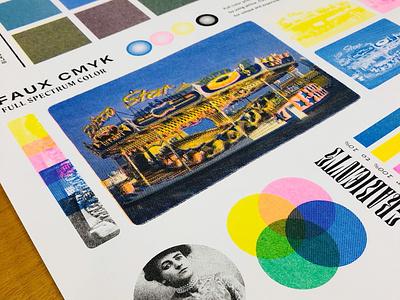 The IRL version! texture halftone press printing press printing printing design spot color riso risography risograph