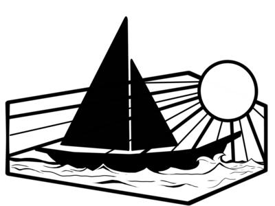 Sailboat Coffin tattoo design illustration digital art