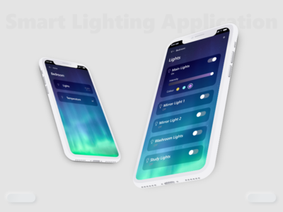 Smart Lighting Application xd design product design app ui ux