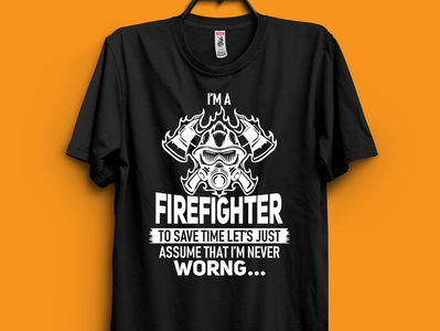 Firefighter T-shirt fireman t-shirt design tshirt t-shirt firefighter tshirt firefighter