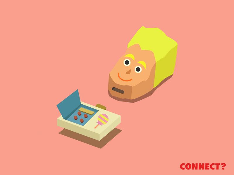 CONNECT? - illustration design vector dribbble illustration graphic design