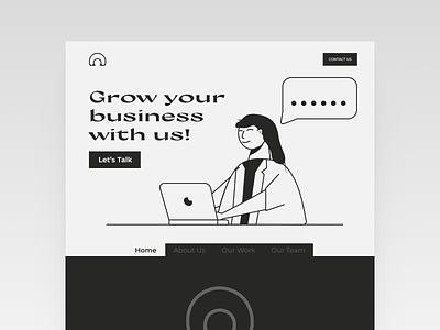 Digital Agency Monochrome Landing Page design clean ui website design uxdesign ui designs uidesign