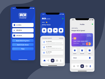 Mobile banking exploration - BCA Bank clean ui ui uxdesign ui designs uidesign