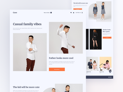 Landing page of new article clothes landing page ui clean ui uxdesign ui designs uidesign