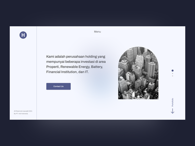 Concept of website for holding company ui website design clean ui uxdesign ui designs uidesign