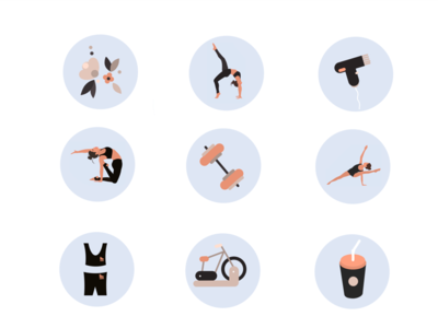Highlight icons vector flat illustration