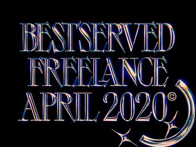 BSB ©20 - Freelance ✨ iridescent holo crypto portfolio c4d interaction typography cyberpunk holographic freelance showreel octane cinema 4d animation branding 3d