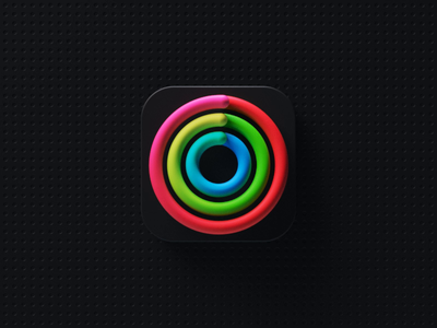 Activity Icon apple watch apple icon sport healthcare health activity fitness app icon ux ui c4d octane cinema 4d animation branding 3d