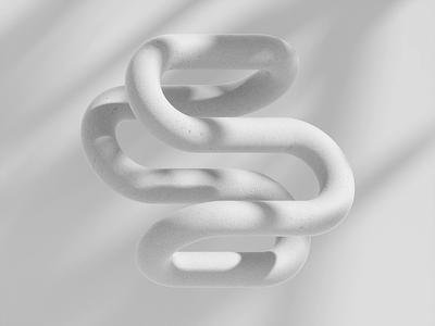 Sculpt c4d abstract icon lighting bolt soft organic loop octane cinema 4d animation branding 3d