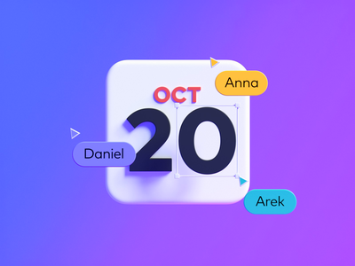 Save the date 📅 web design interaction octane c4d cinema 4d ui calendar pitch branding 3d